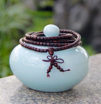 千龄木小叶紫檀筒珠0.5cm