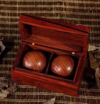 千龄木 大红酸枝保健手球